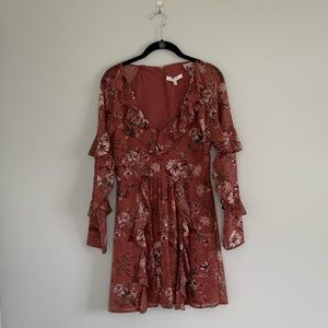 Wayf long sleeve Floral dress